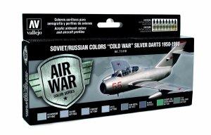 Vallejo 71610 Soviet / Russian colors Cold War Silver Darts 1950-1980 8x17 ml