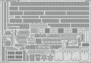 Eduard 53211 HMS Belfast railings TRUMPETER 1/350