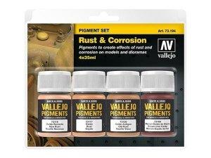 Vallejo 73194 Pigment Set Rust & Corrosion 4x35ml
