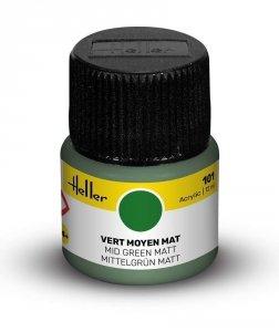 Heller 9101 101 Mid Green - Matt 12ml