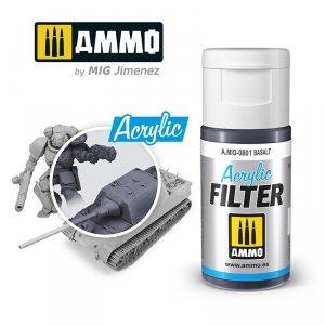 Ammo of Mig 0801 ACRYLIC FILTER Basalt 15 ml