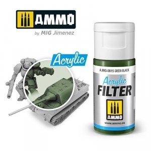 Ammo of Mig 0815 ACRYLIC FILTER Green Black 15 ml