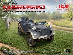 ICM 35583 le.gl.Einheitz-Pkw Kfz.2, WWII German Light Radio Communication Car 1/35