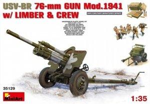 MiniArt 35129 USV-BR 76-mm Gun Mod.1941 w/ limber/ crew