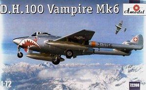 A-Model 72208 British Jet-Engine Fighter De Havilland DH.100 Vampire Mk.VI 1:72