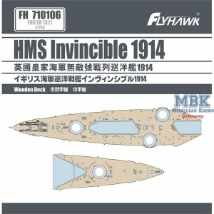 FlyHawk Model FH710106 HMS Invincible 1914 Wooden Deck (FH1311) 1/700