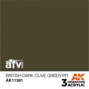 AK-Interactive AK 11381 British Dark Olive Green PFI 17ml