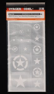 Voyager Model PEA136 WWII US Army Tank Stenciling Templates Type 1 1/35