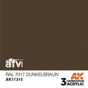 AK-Interactive AK 11315 RAL 7017 Dunkelbraun 17ml
