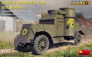 MiniArt 39005 AUSTIN ARMORED CAR 3rd SERIES: UKRAINIAN, POLISH, GEORGIAN, ROMANIAN SERVICE. INTERIOR KIT 1/35