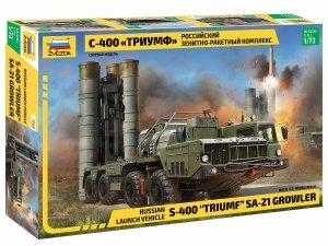 "Zvezda 5068 S-400 ""Triumf"" AA Missile System SA-21 Growler 1/72"