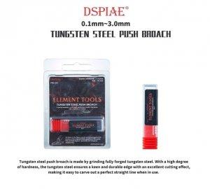 DSPIAE PB-0125 0.125mm Tungsten Steel Push Broach / Rysik ze stali wolframowej