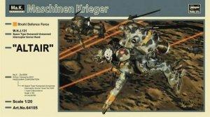 Hasegawa 64105 Altair W.H.J.131 Space Type Humanoid Unmanned Interceptor GroBer Hund 1/20