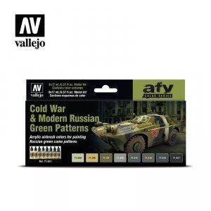 Vallejo 71621 Cold War & Modern Russian Green Patterns 8x17ml