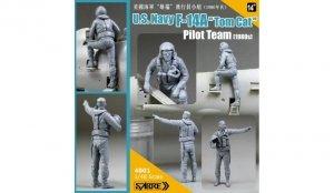 Sabre 4801 U.S.Navy F-14A Tomcat Pilot Team (1980s) 1/48