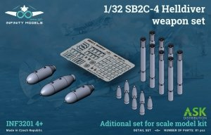 Infinity Models INF3201-04+ SB2C-4 Helldiver weapon set (bomb and rockets) 1/32