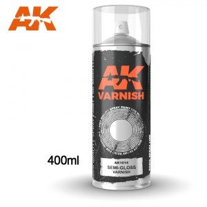 AK Interactive AK 1014 SEMI GLOSS VARNISH SPRAY 400ml