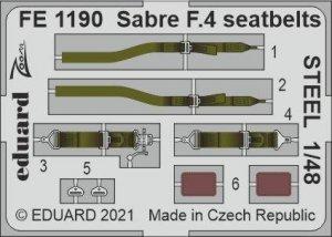 Eduard FE1190 Sabre F.4 seatbelts STEEL AIRFIX 1/48