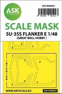 ASK M48002 Su-35S Flanker E double-sided painting mask for Great Wall Hobby 1/48