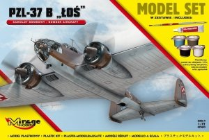 Mirage Hobby 872092 PZL-37B 'ŁOŚ' Polski Samolot Bombowy 1/72 Model set