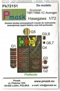 P-Mask PK72151 Grumman TBF/TBM-1C Avenger (Hasegawa) 1/72