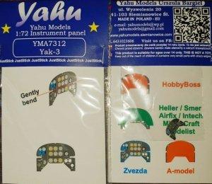 Yahu YMA7312 Yak-3 Zvezda / Hasegawa / Heller-Smer 1/72