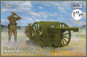 IBG 35059 75mm Field Gun wz. 1897 with Polish Artillerymen figures 1/35