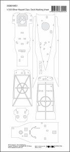 Pontos 35001MS1 USS Oliver Hazard Perry Class Deck Masking Sheet (1:350)