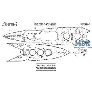 FlyHawk Model FH710083 HMS Agincourt Wooden Deck HMS Agincourt Wooden Deck 1/700
