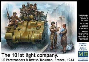 Master Box 35164 The 101th light company US Paratroopers British Tankman France, 1944