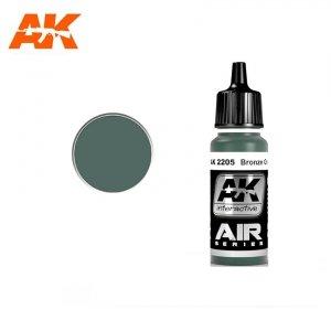 AK Interactive AK 2205 BRONZE GREEN 17ml