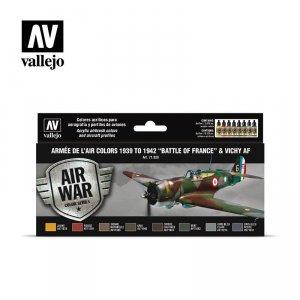 Vallejo 71626 Armée De L'air Colors 1939-1942 Battle of France & Vichy AF 8x17ml