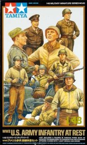 Tamiya 32552 WWII US Infantry at rest with Jeep (1:48)
