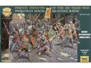 Zvezda 8053 French Infantry of the 100 Years War 1/72