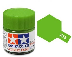 Tamiya 81015 Acryl X-15 Light Green 23ml