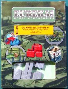 EUREKA XXL E-049 US WW2 Fuel Jerrycans #1 (4 pcs) 1/35
