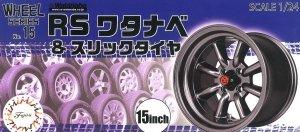 Fujimi 193564 Wheel Series No.15 RS Watanabe & Slick Tire 15-inch 1/24