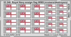 Eduard 53246 Royal Navy ensign flag WWII (cruisers/ destroyers) STEEL 1/350