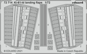 Eduard 72714 Ki-61-Id landing flaps TAMIYA 1/72
