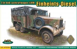 Ace 72578 2,5t 6x6 Lastkraftwagen (LKW) Einheints-Diesel 1/72