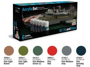 ITALERI 434AP - M.T.B. and Ships - Acrylic Set