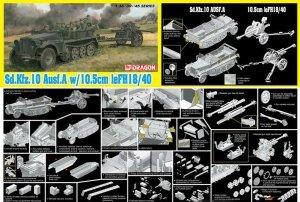 Dragon 6939 Sd.Kfz.10 Ausf.A + 10.5cm le.FH.18/40 1/35