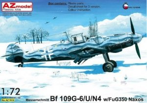 AZmodel AZ7614 Bf-109G-6/U/N4 w/FuG350 Naxos 1/72