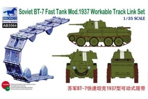 Bronco AB3564 Soviet BT-7 Fast Tank Mod.1937 Workable Track Link Set 1/35