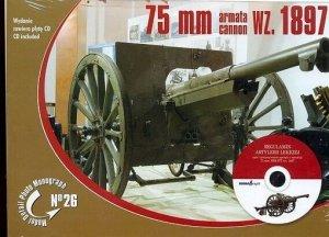 Rossagraph Model Detail Photo Monograph No. 26 - 75mm wz. 1897 cannon (with CD) PL/EN