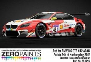 Zero Paints 1646 BMW M6 GT3 42 Zurich 24h Of Nurburgring 2017 Red 30ML