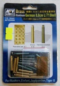 AFV Club 35098 German 88mm L/71 Shell brass and aluminium 1/35