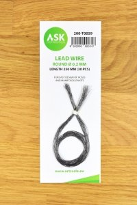 ASK T0059 Lead Wire - Round Ø 0,2 mm x 250 mm (30 pcs)