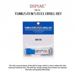 DSPIAE DB-01 0.8mm Tungsten Steel Drill Bit / Wiertło ze stali wolframowej