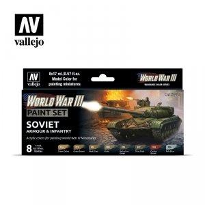 Vallejo 70221 WWIII Soviet Armour & Infantry 8x17ml